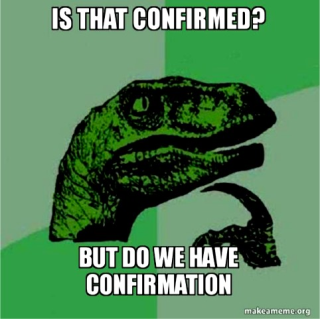 Confirming dinosaur